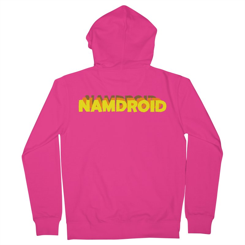 Meeting Comics: NAMDROID LOGO Men's French Terry Zip-Up Hoody by Wander Lane Threadless Shop