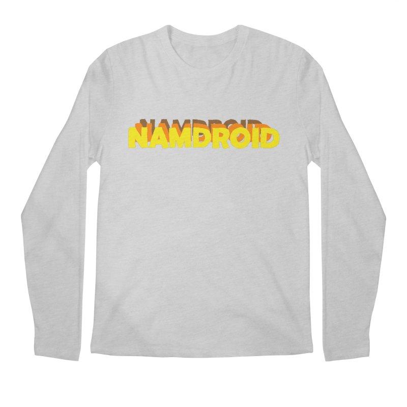 Meeting Comics: NAMDROID LOGO Men's Regular Longsleeve T-Shirt by Wander Lane Threadless Shop
