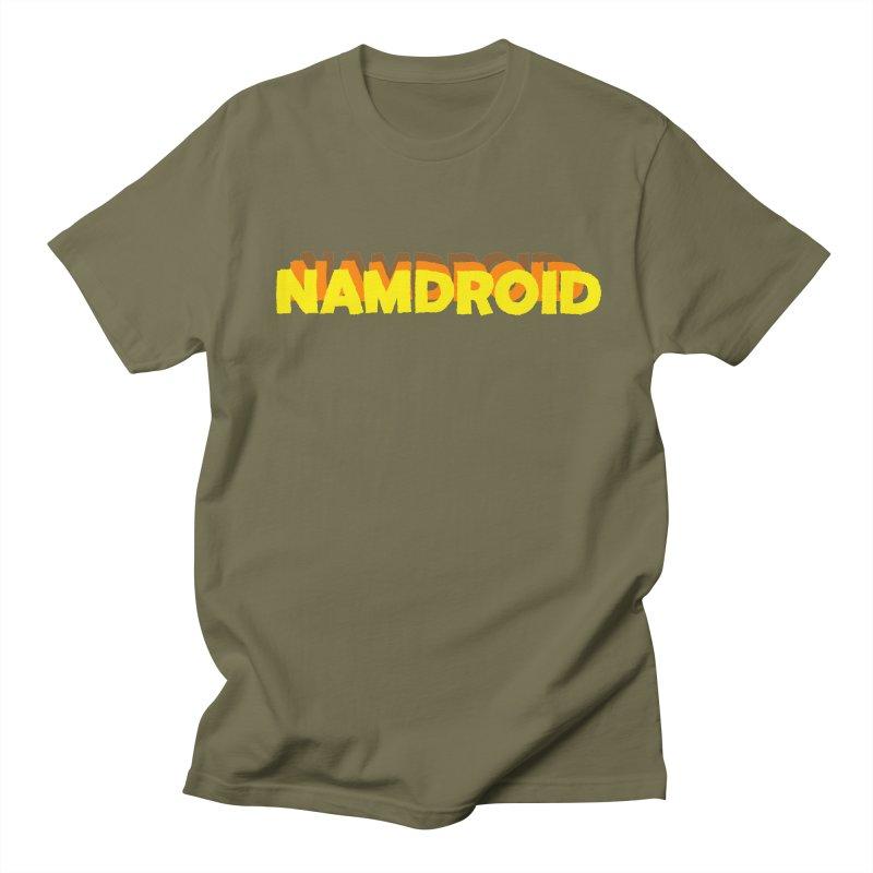 Meeting Comics: NAMDROID LOGO Men's Regular T-Shirt by Wander Lane Threadless Shop