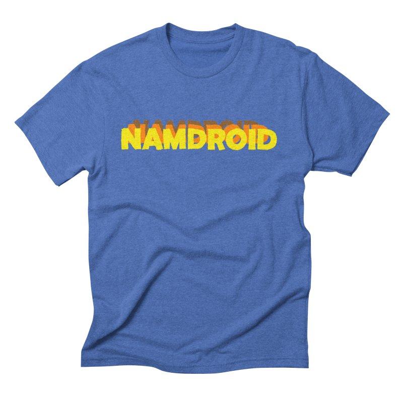 Meeting Comics: NAMDROID LOGO in Men's Triblend T-Shirt Blue Triblend by Wander Lane Threadless Shop