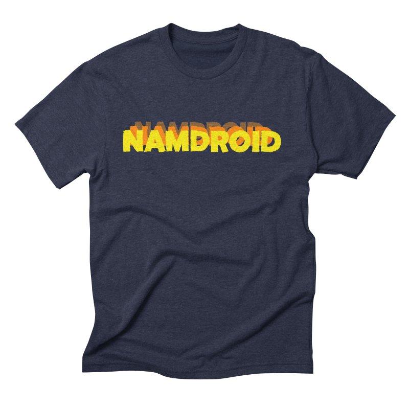 Meeting Comics: NAMDROID LOGO Men's Triblend T-Shirt by Wander Lane Threadless Shop