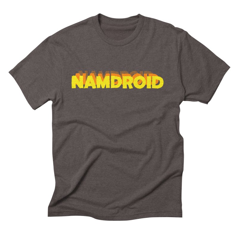 Meeting Comics: NAMDROID LOGO Men's Triblend T-Shirt by Wander Lane Threadless Shop