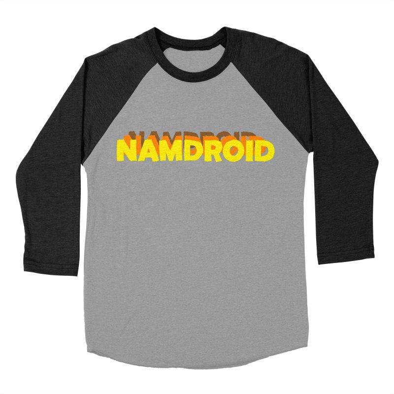 Meeting Comics: NAMDROID LOGO Women's Baseball Triblend Longsleeve T-Shirt by Wander Lane Threadless Shop