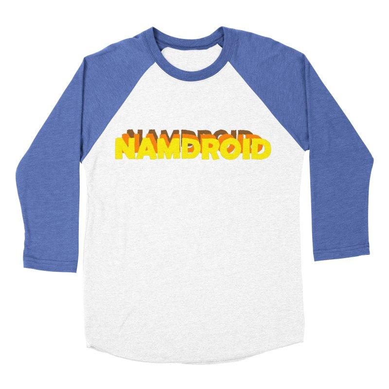 Meeting Comics: NAMDROID LOGO Men's Baseball Triblend Longsleeve T-Shirt by Wander Lane Threadless Shop
