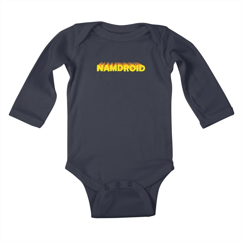 Meeting Comics: NAMDROID LOGO Kids Baby Longsleeve Bodysuit by Wander Lane Threadless Shop