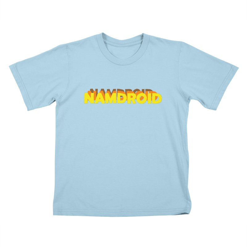 Meeting Comics: NAMDROID LOGO Kids T-Shirt by Wander Lane Threadless Shop