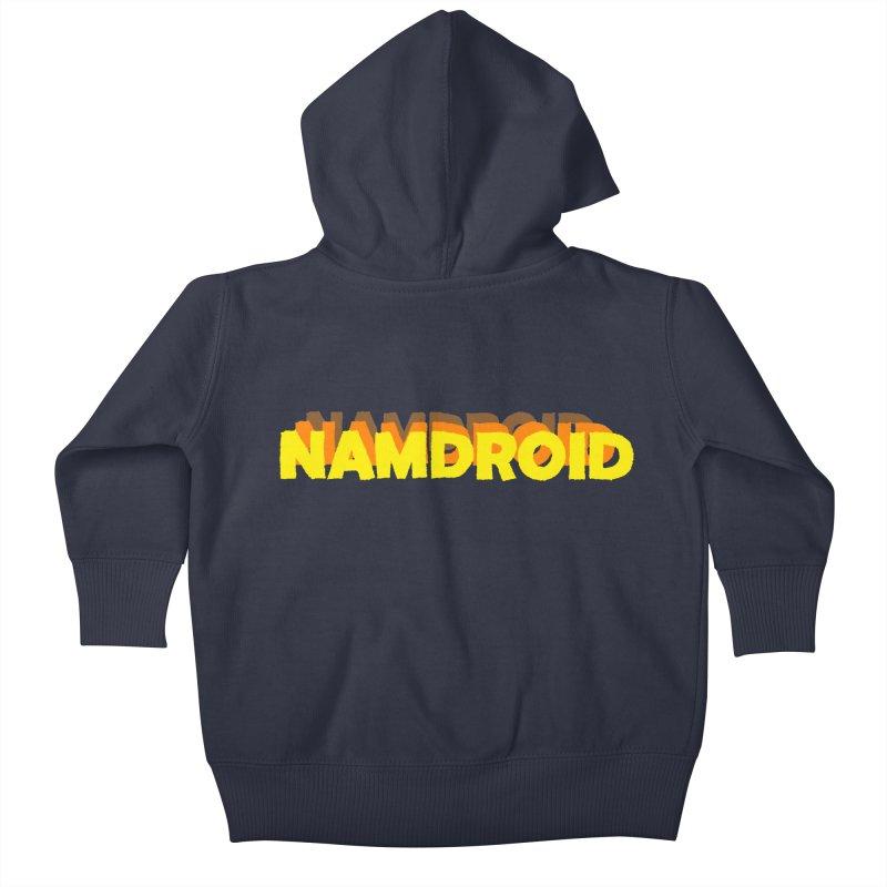 Meeting Comics: NAMDROID LOGO Kids Baby Zip-Up Hoody by Wander Lane Threadless Shop