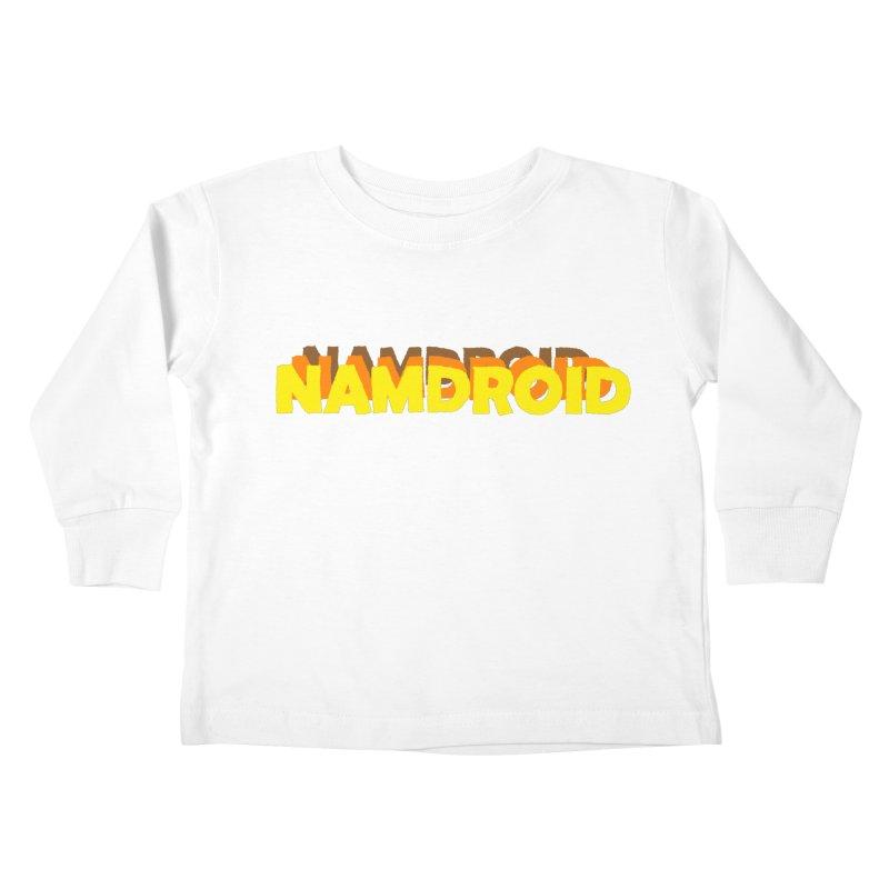 Meeting Comics: NAMDROID LOGO Kids Toddler Longsleeve T-Shirt by Wander Lane Threadless Shop