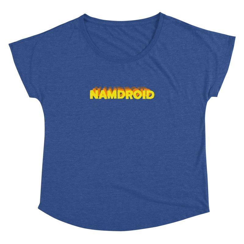 Meeting Comics: NAMDROID LOGO Women's Dolman Scoop Neck by Wander Lane Threadless Shop