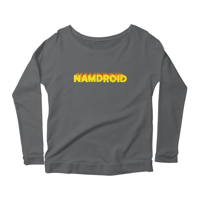 Meeting Comics: NAMDROID LOGO Women's Scoop Neck Longsleeve T-Shirt by Wander Lane Threadless Shop