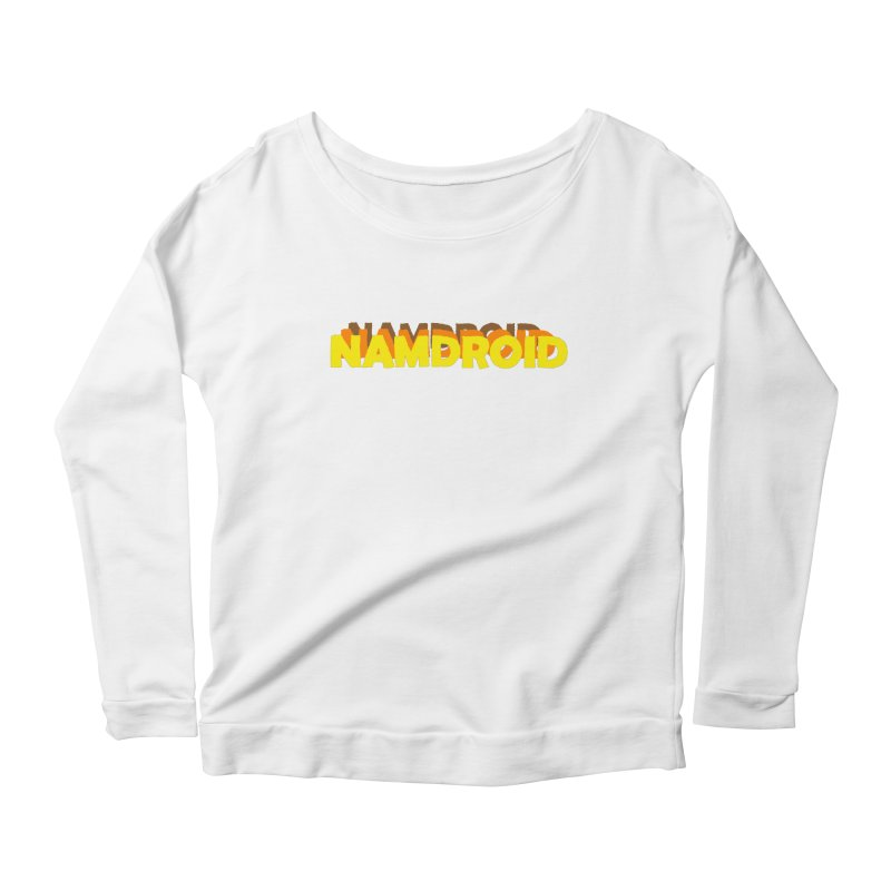 Meeting Comics: NAMDROID LOGO Women's Scoop Neck Longsleeve T-Shirt by Wander Lane Threadless Shop