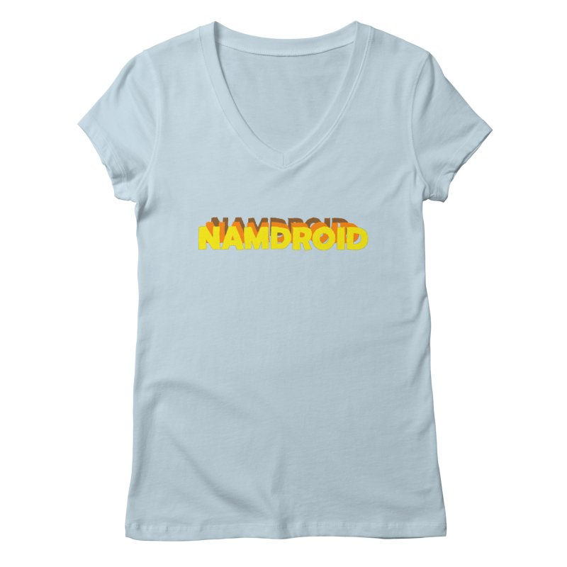 Meeting Comics: NAMDROID LOGO Women's Regular V-Neck by Wander Lane Threadless Shop