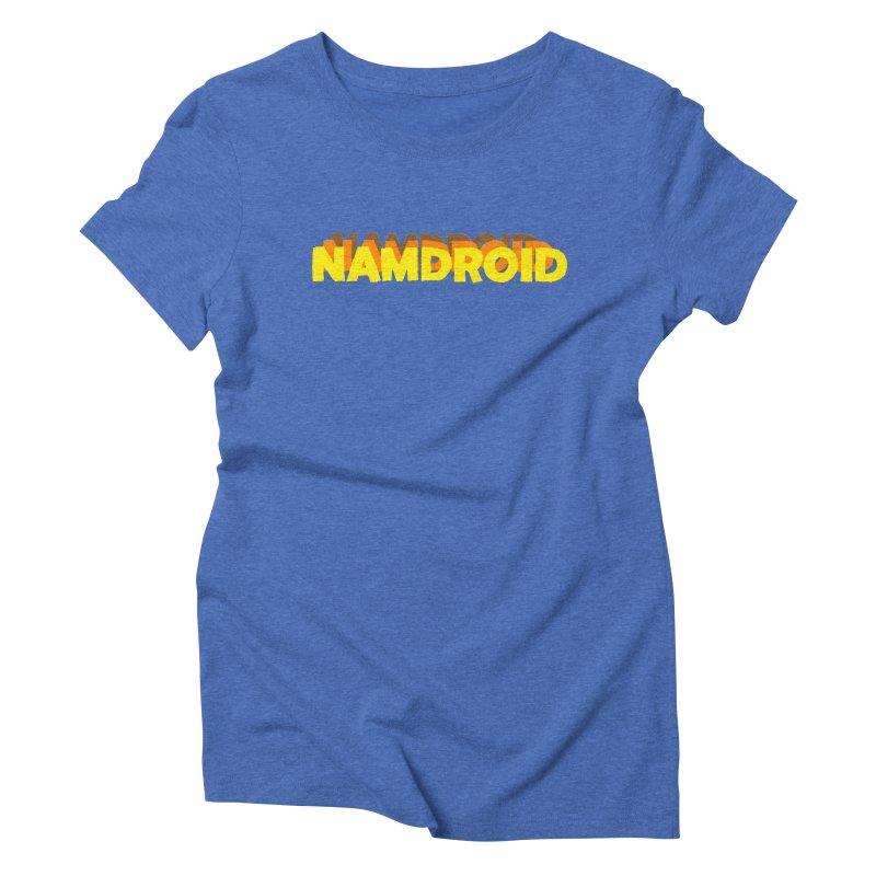 Meeting Comics: NAMDROID LOGO Women's Triblend T-Shirt by Wander Lane Threadless Shop