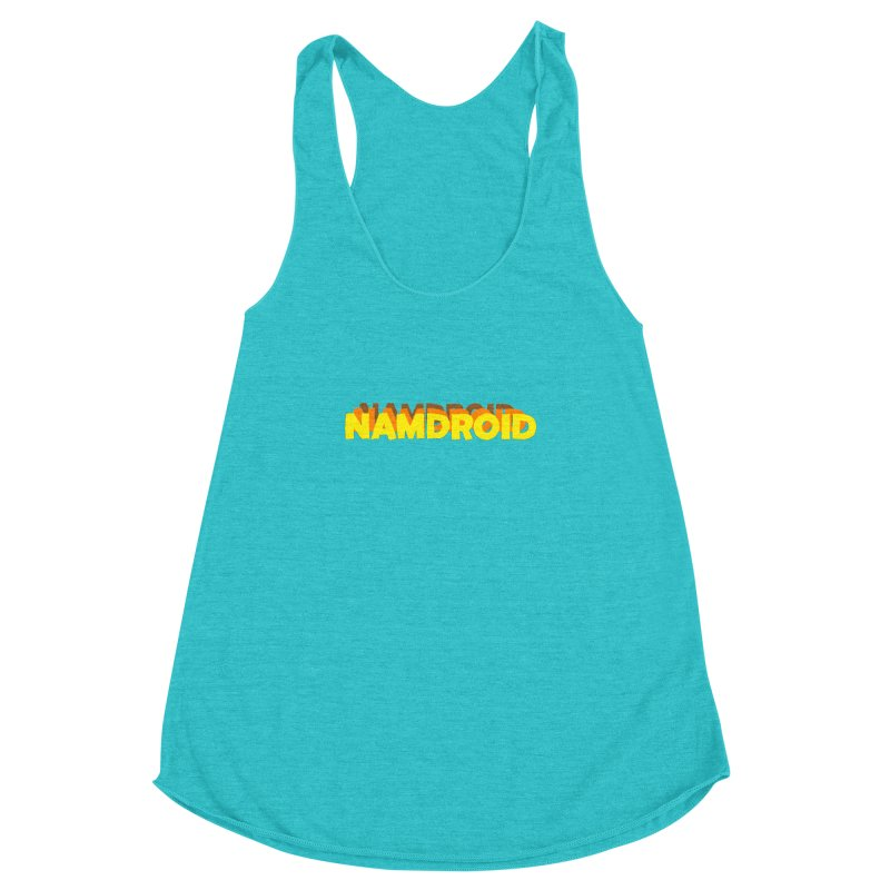 Meeting Comics: NAMDROID LOGO Women's Racerback Triblend Tank by Wander Lane Threadless Shop