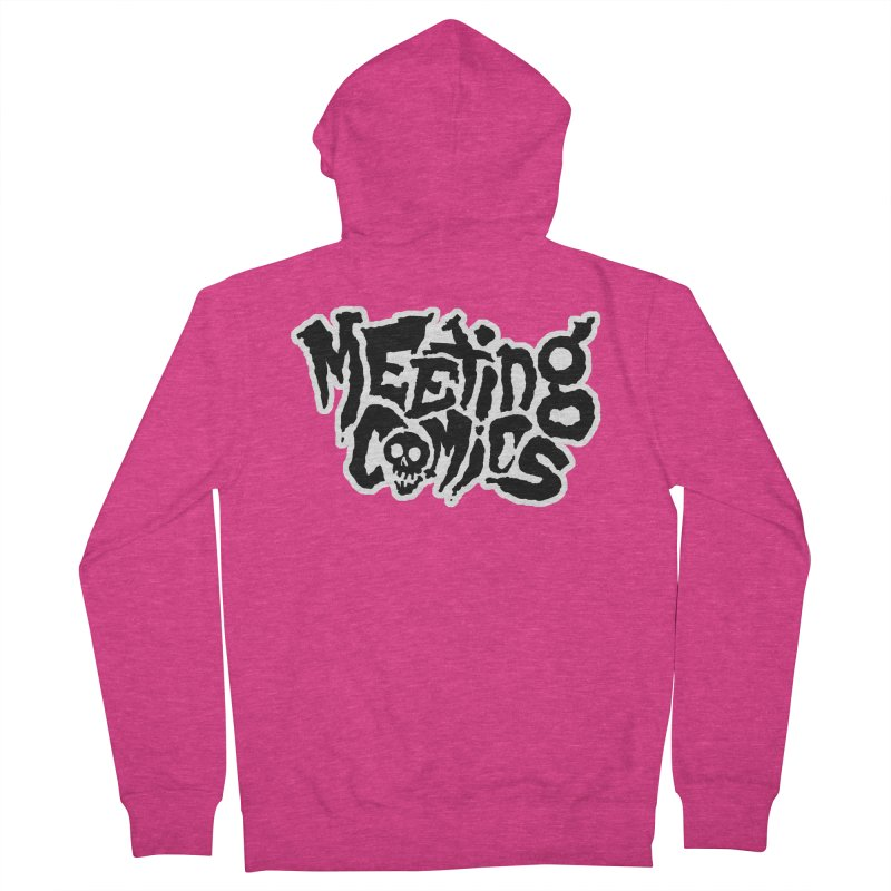 Meeting Comics Logo - burglar Women's French Terry Zip-Up Hoody by Wander Lane Threadless Shop