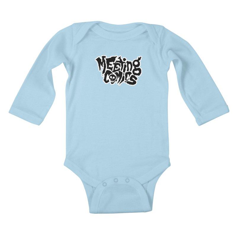 Meeting Comics Logo - burglar Kids Baby Longsleeve Bodysuit by Wander Lane Threadless Shop