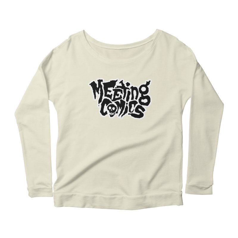 Meeting Comics Logo - burglar Women's Scoop Neck Longsleeve T-Shirt by Wander Lane Threadless Shop
