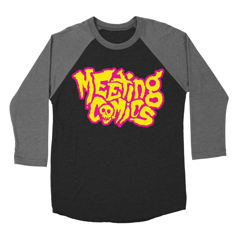 Meeting Comics Logo - lemonade Men's Baseball Triblend Longsleeve T-Shirt by Wander Lane Threadless Shop