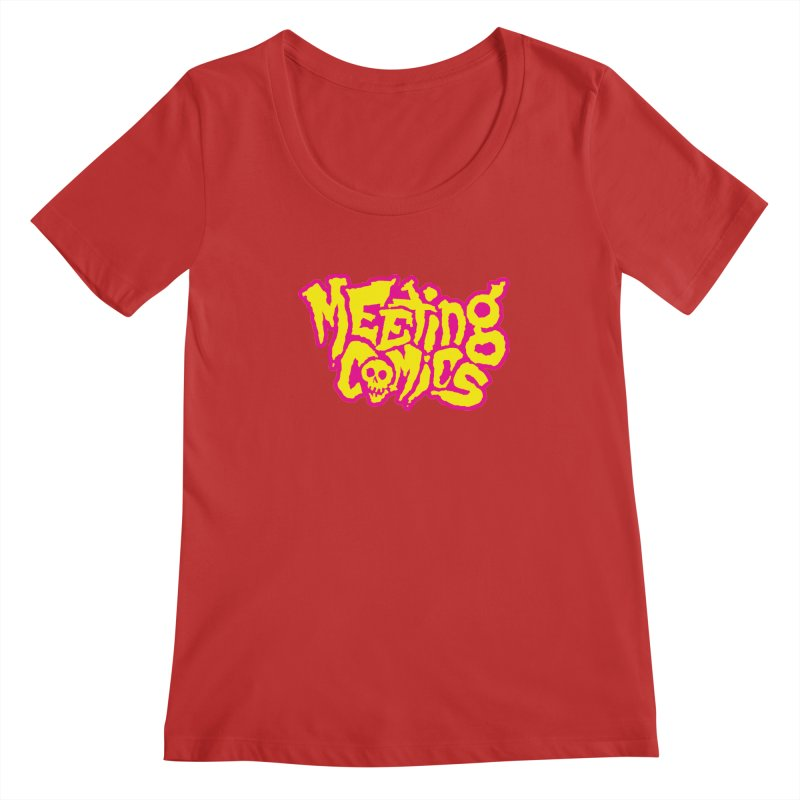 Meeting Comics Logo - lemonade Women's Regular Scoop Neck by Wander Lane Threadless Shop