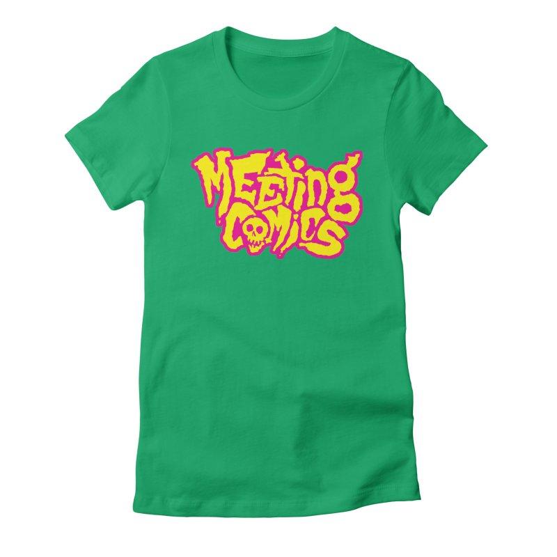 Meeting Comics Logo - lemonade Women's Fitted T-Shirt by Wander Lane Threadless Shop