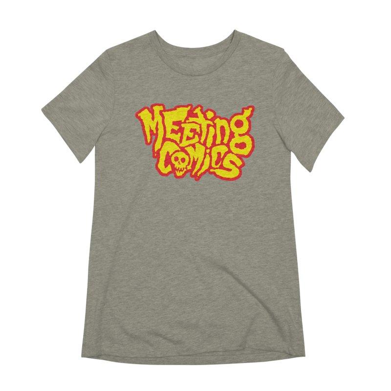 Meeting Comics Logo - primary Women's Extra Soft T-Shirt by Wander Lane Threadless Shop