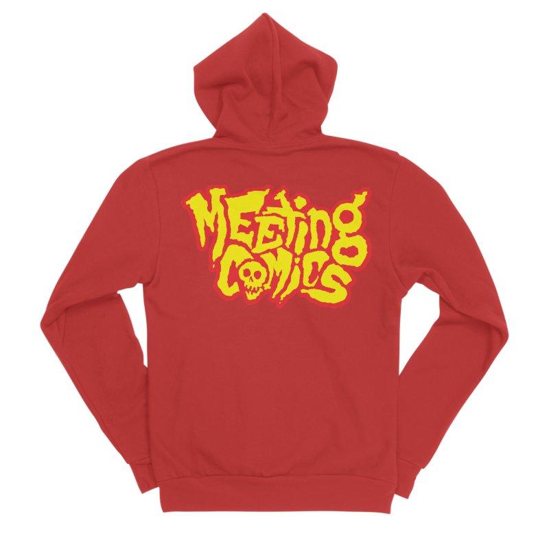 Meeting Comics Logo - primary Men's Sponge Fleece Zip-Up Hoody by Wander Lane Threadless Shop