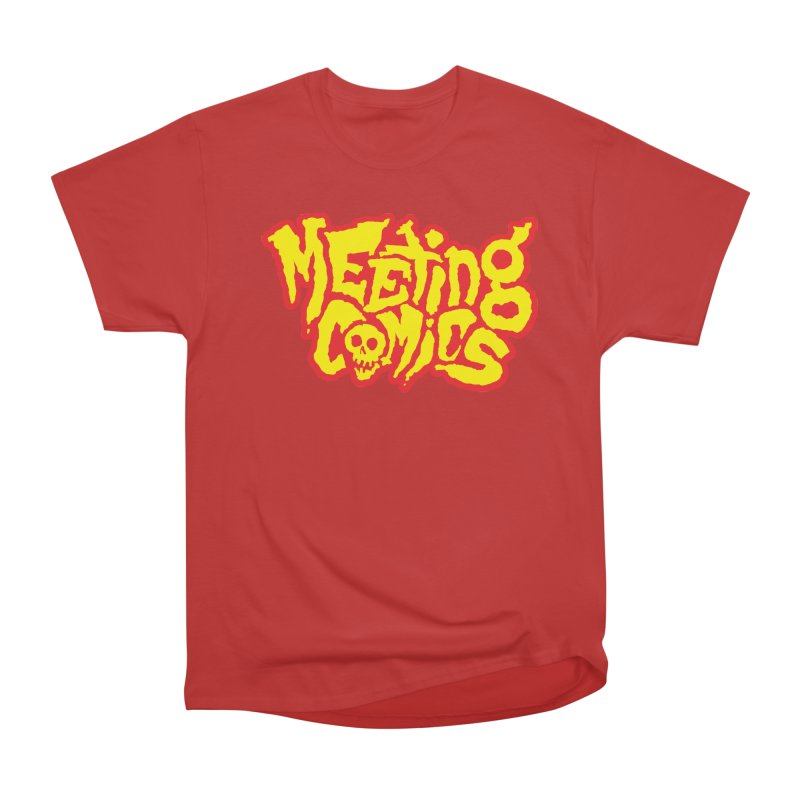 Meeting Comics Logo - primary Women's Heavyweight Unisex T-Shirt by Wander Lane Threadless Shop