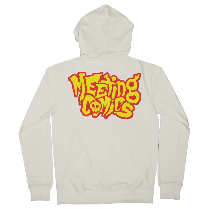 Meeting Comics Logo - primary Women's French Terry Zip-Up Hoody by Wander Lane Threadless Shop