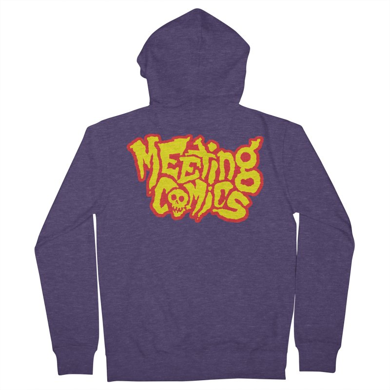 Meeting Comics Logo - primary Men's French Terry Zip-Up Hoody by Wander Lane Threadless Shop