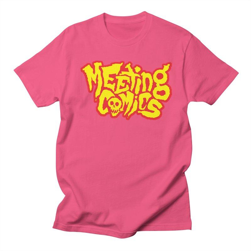 Meeting Comics Logo - primary Men's Regular T-Shirt by Wander Lane Threadless Shop