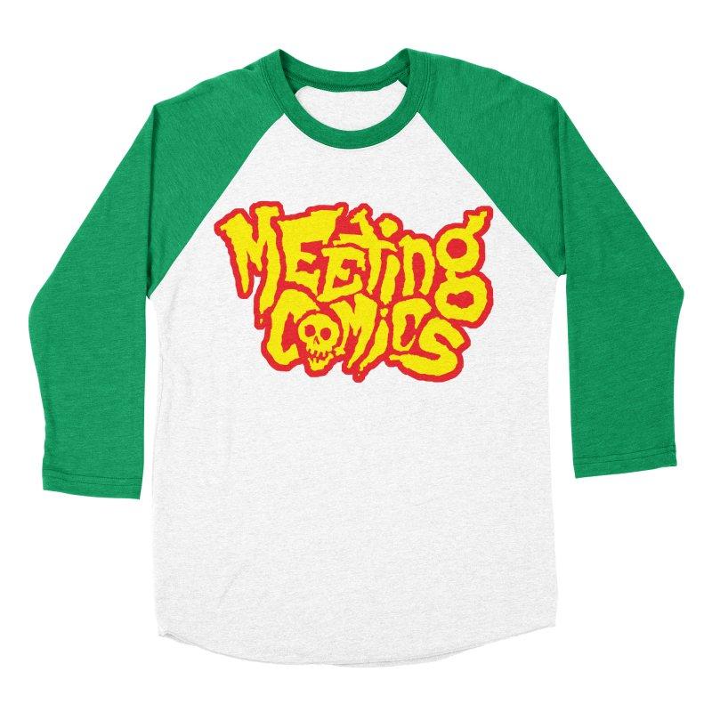 Meeting Comics Logo - primary Men's Baseball Triblend Longsleeve T-Shirt by Wander Lane Threadless Shop