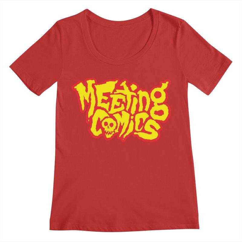 Meeting Comics Logo - primary Women's Regular Scoop Neck by Wander Lane Threadless Shop