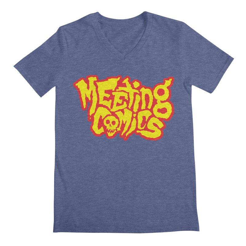 Meeting Comics Logo - primary Men's Regular V-Neck by Wander Lane Threadless Shop