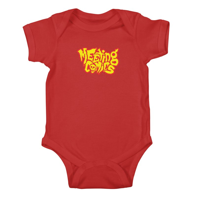 Meeting Comics Logo - primary Kids Baby Bodysuit by Wander Lane Threadless Shop