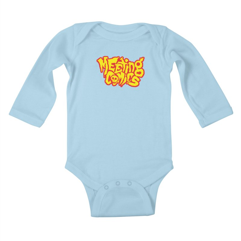 Meeting Comics Logo - primary Kids Baby Longsleeve Bodysuit by Wander Lane Threadless Shop