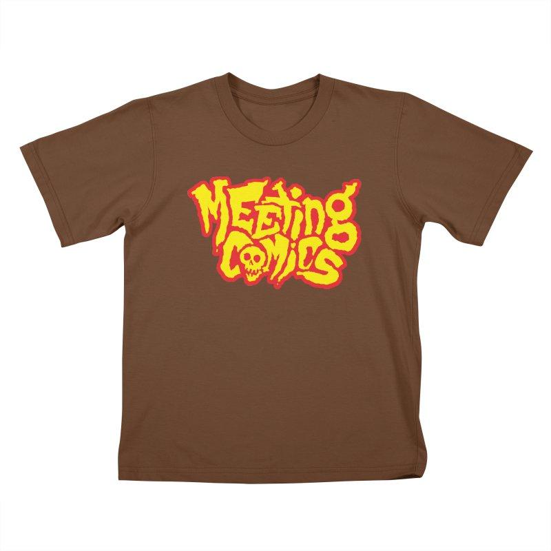 Meeting Comics Logo - primary Kids T-Shirt by Wander Lane Threadless Shop