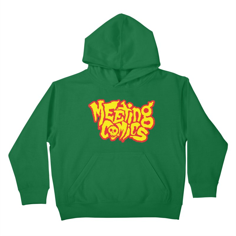 Meeting Comics Logo - primary Kids Pullover Hoody by Wander Lane Threadless Shop