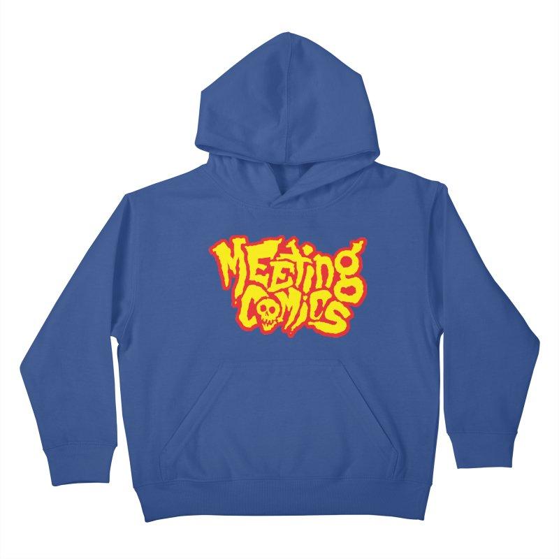 Meeting Comics Logo - primary Kids Pullover Hoody by Wander Lane Threadless Shop