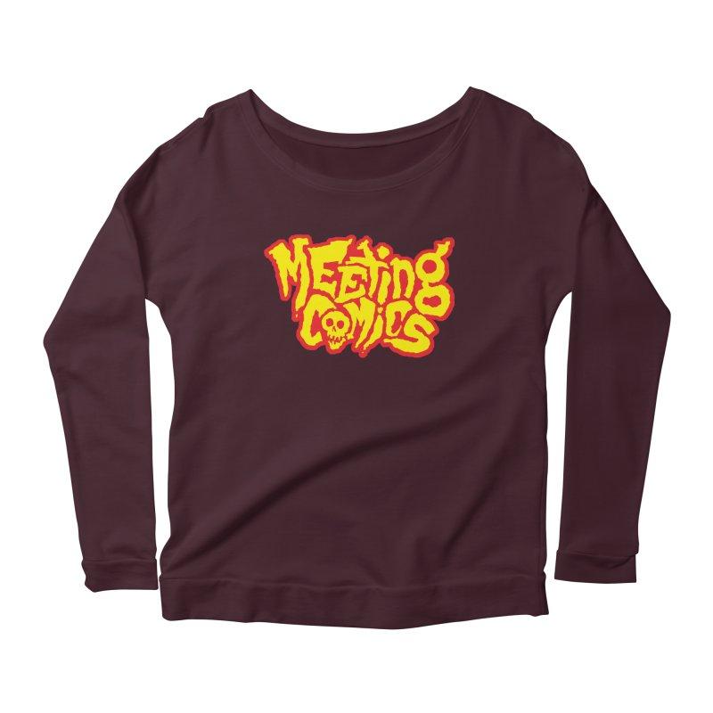 Meeting Comics Logo - primary Women's Scoop Neck Longsleeve T-Shirt by Wander Lane Threadless Shop