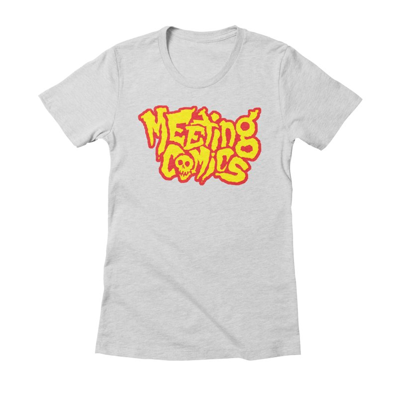 Meeting Comics Logo - primary Women's Fitted T-Shirt by Wander Lane Threadless Shop