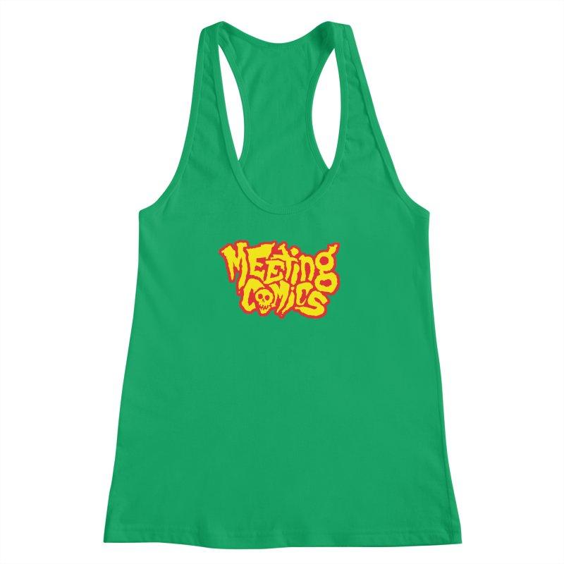 Meeting Comics Logo - primary Women's Racerback Tank by Wander Lane Threadless Shop