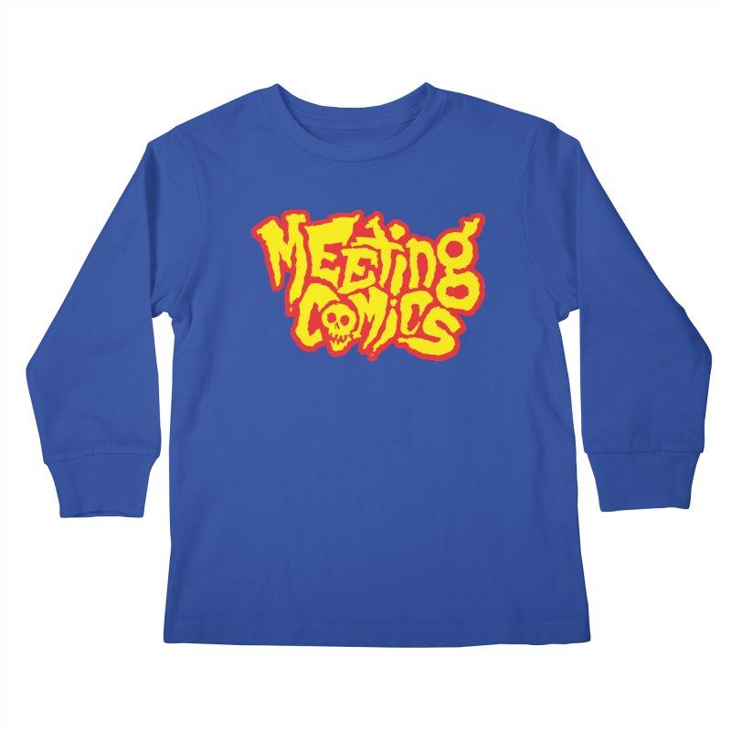 Meeting Comics Logo - primary Kids Longsleeve T-Shirt by Wander Lane Threadless Shop