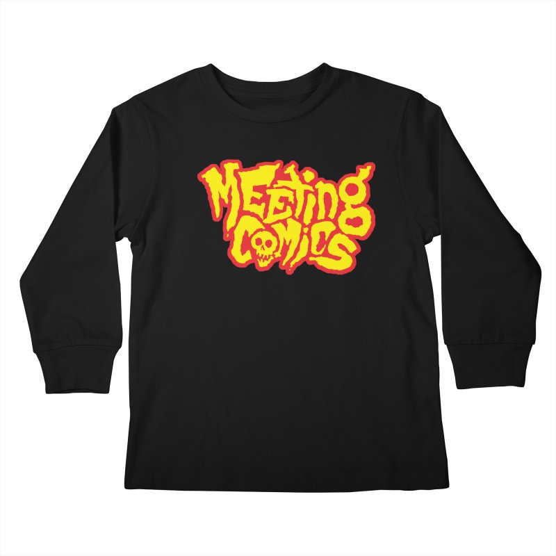 Meeting Comics Logo - primary Kids Longsleeve T-Shirt by Wander Lane Threadless Shop