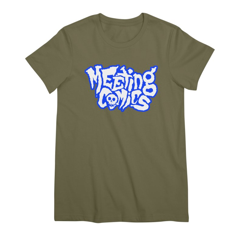 Meeting Comics Logo - sports Women's Premium T-Shirt by Wander Lane Threadless Shop