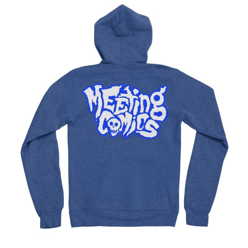 Meeting Comics Logo - sports Men's Sponge Fleece Zip-Up Hoody by Wander Lane Threadless Shop