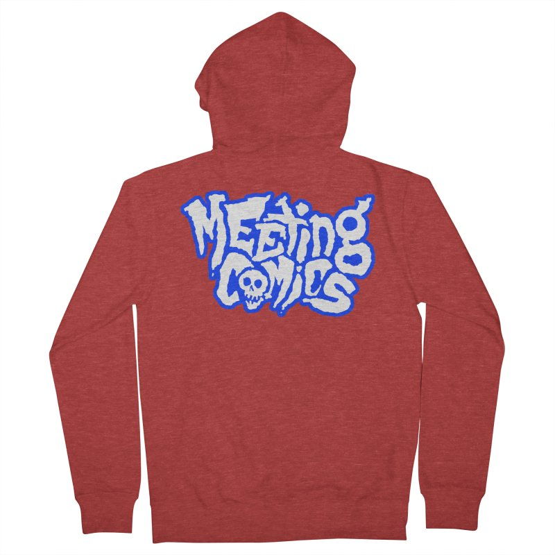 Meeting Comics Logo - sports Women's French Terry Zip-Up Hoody by Wander Lane Threadless Shop