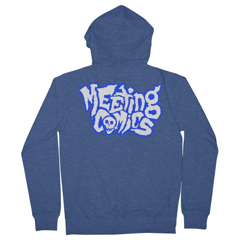 Meeting Comics Logo - sports Men's French Terry Zip-Up Hoody by Wander Lane Threadless Shop