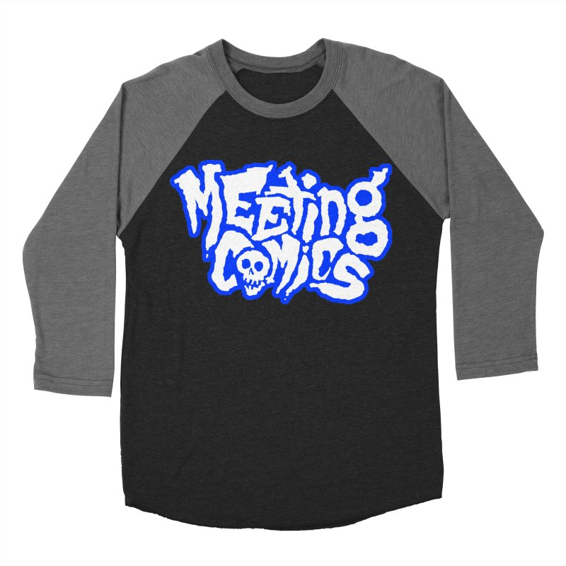 Meeting Comics Logo - sports Men's Baseball Triblend Longsleeve T-Shirt by Wander Lane Threadless Shop