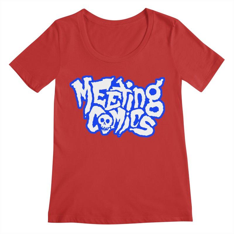 Meeting Comics Logo - sports Women's Regular Scoop Neck by Wander Lane Threadless Shop