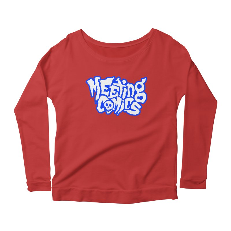 Meeting Comics Logo - sports Women's Scoop Neck Longsleeve T-Shirt by Wander Lane Threadless Shop